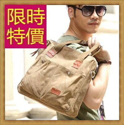 ★帆布包 手提包-大容量旅行出遊攜帶方便男側背包59j25【日本進口】【米蘭精品】