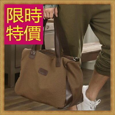 ★帆布包 手提包-大容量旅行出遊攜帶方便男側背包59j26【日本進口】【米蘭精品】