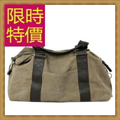 帆布包 手提包-大容量旅行出遊攜帶方便男側背包2色(大)59j34【日本進口】【米蘭精品】