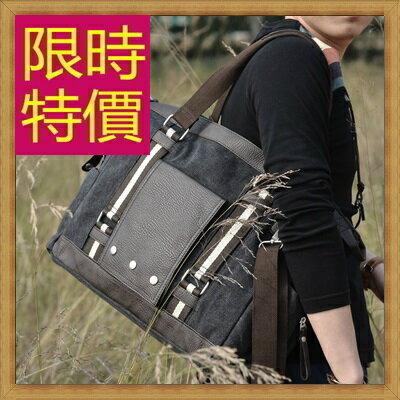 帆布包 手提包-大容量旅行出遊攜帶方便男側背包2色59j63【日本進口】【米蘭精品】