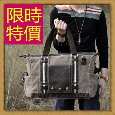 <br/><br/> ☆帆布包 手提包-大容量旅行出遊攜帶方便男側背包2色59j63【日本進口】【米蘭精品】<br/><br/>