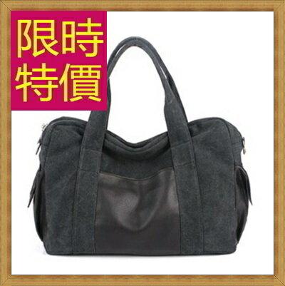 帆布包 手提包-大容量旅行出遊攜帶方便男側背包6色(大)59j81【日本進口】【米蘭精品】