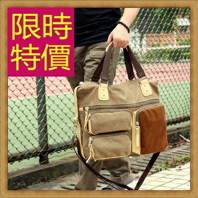 ★帆布包 手提包-大容量旅行出遊攜帶方便男側背包3色59j98【日本進口】【米蘭精品】