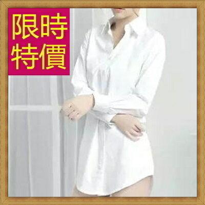 ★襯衫 長袖上衣-修身男朋友風長版女襯衫59n10【韓國 】【米蘭 】