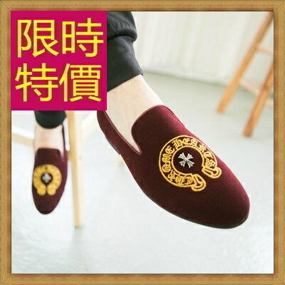 樂福鞋 休閒鞋~英倫學院風懶人男皮鞋2色59p40~韓國 ~~米蘭 ~