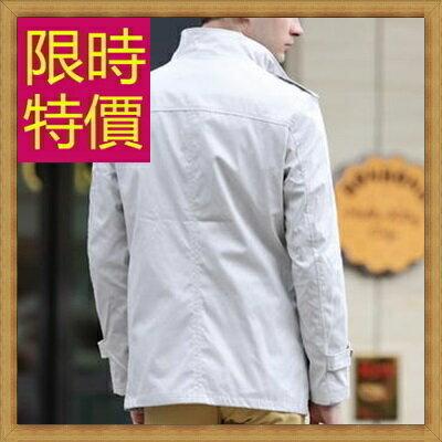 ★風衣外套 男大衣-保暖修身長版男外套3色59r16【韓國進口】【米蘭精品】