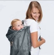 EMMA商城^~嬰幼兒背帶用防風防水披風抱帶斗蓬披風