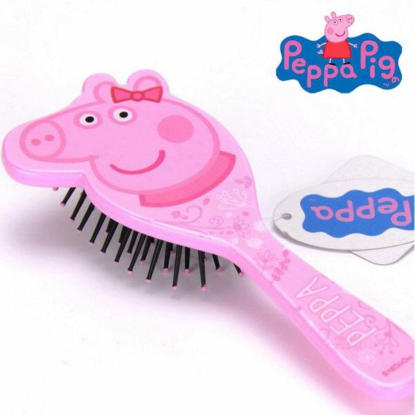 EMMA商城~Peppa Pig 佩佩豬 粉紅豬小妹 兒童氣墊按摩梳 防靜電梳 梳子