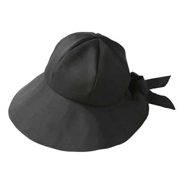 又敗家@日本NEEDS吸濕涼感感COOLMAX可調頭圍99%抗UV黑色蝴蝶結遮陽帽大帽簷淑女帽大帽沿大盤帽大圓盤帽闊葉帽