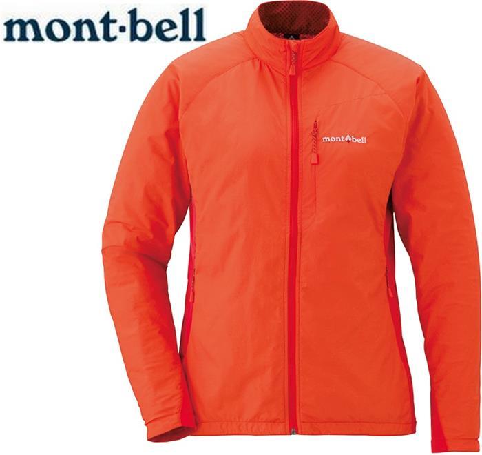 Mont-Bell 風衣外套/登山外套 防潑水保暖防風 Light Shell 女款 1106558 MAN橘紅