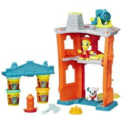 【孩之寶流行玩具】培樂多黏土 城市系列 - 消防隊遊戲組 B3415