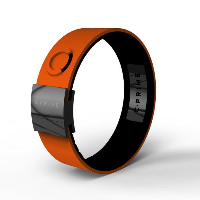 UFC MMA體驗美國科技平衡手環C.Prime手環~頂尖運動員的致勝關鍵~健身房時尚手環-02橘黑