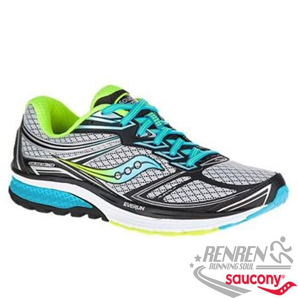 SAUCONY GUIDE 9 女慢跑鞋 (灰藍綠)