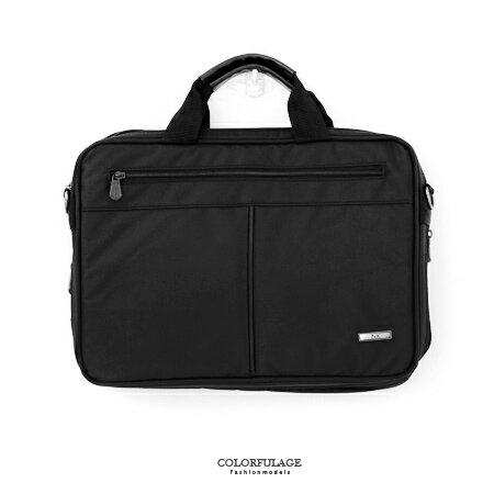 手提包 型男品味精緻尼龍公事包.側背包 可放A4文件.小筆電 簡約素面風格 柒彩年代【NZ455】斜背包 0