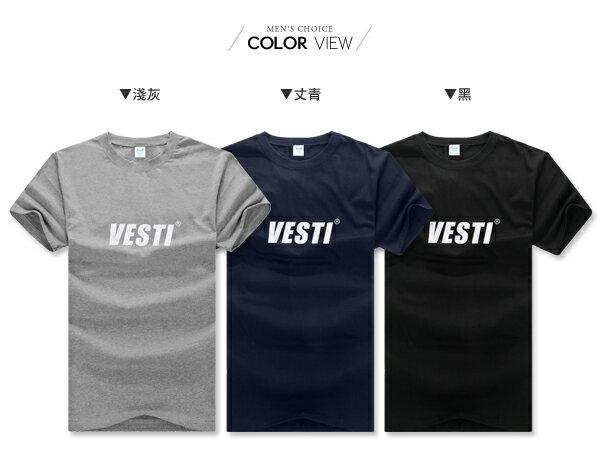 ☆BOY-2☆【PPK82119】美式休閒素面Vesti男裝短袖T桖 1