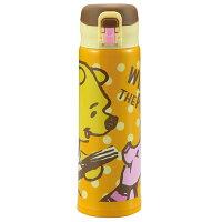 小熊維尼周邊商品推薦【真愛日本】17041700039 保溫瓶500ml-維尼小豬黃 迪士尼 維尼家族 POOH  保溫保冷瓶 保溫瓶