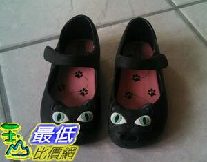 [COSCO代購 如果沒搶到鄭重道歉] Mini Melissa 貓咪圖案女童平底涼鞋 金色 W1014215-GLD