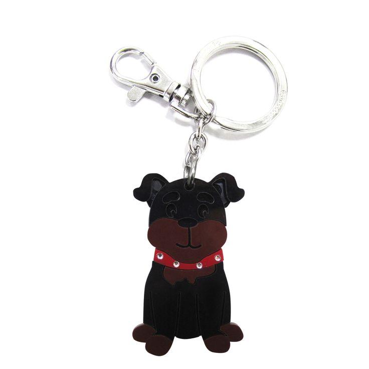 加拿大 foufoudog 鑰匙圈-羅威那犬 Ruttweiler