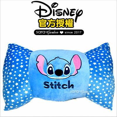 SaraGarden:正版迪士尼Disney史迪奇糖果枕頭靠枕午睡枕抱枕坐墊柔軟絨毛交換禮物