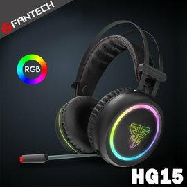 【FANTECHHG157.1環繞立體聲RGB光圈耳罩式電競耳機】7.1環繞音效RGB燈效懸浮式頭帶降噪麥克風【風雅小舖】