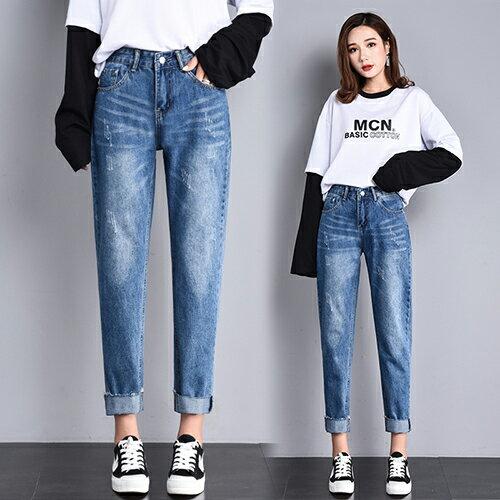 高腰破洞牛仔褲(4色S~2XL) 【OREAD】 3