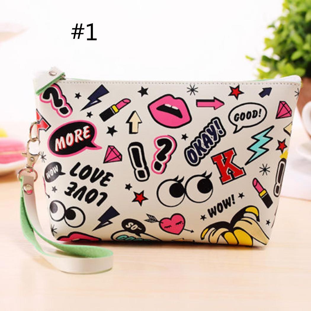 Print Toiletry Makeup Bag Travel Organizer Storage Pouch Clutch Bag 2