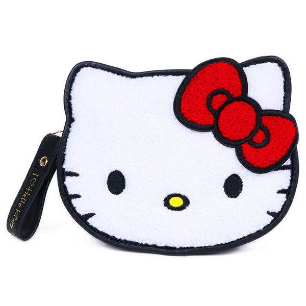 【凱蒂貓 收納包45th】凱蒂貓 高質感 皮革 收納包 手拿包 45週年 日本正版 該該貝比日本精品