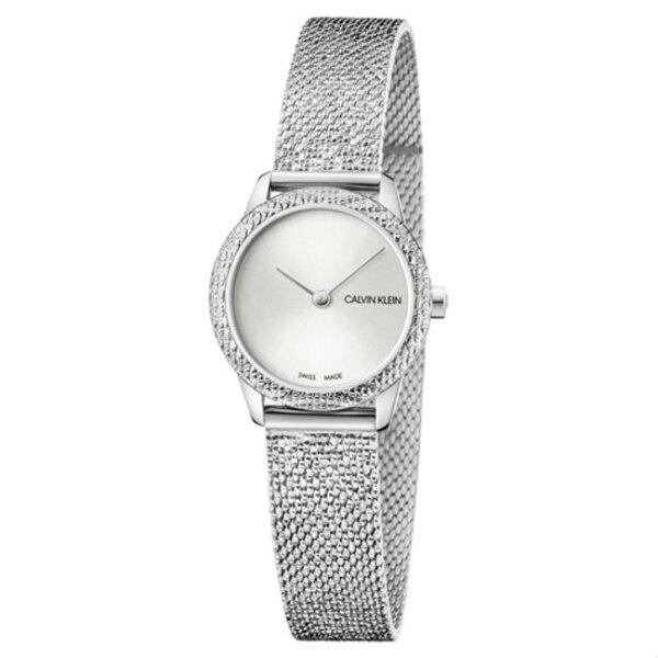 Calvinklein卡文克萊Minimal系列(K3M23T26)簡約重溫復古腕錶銀24mm