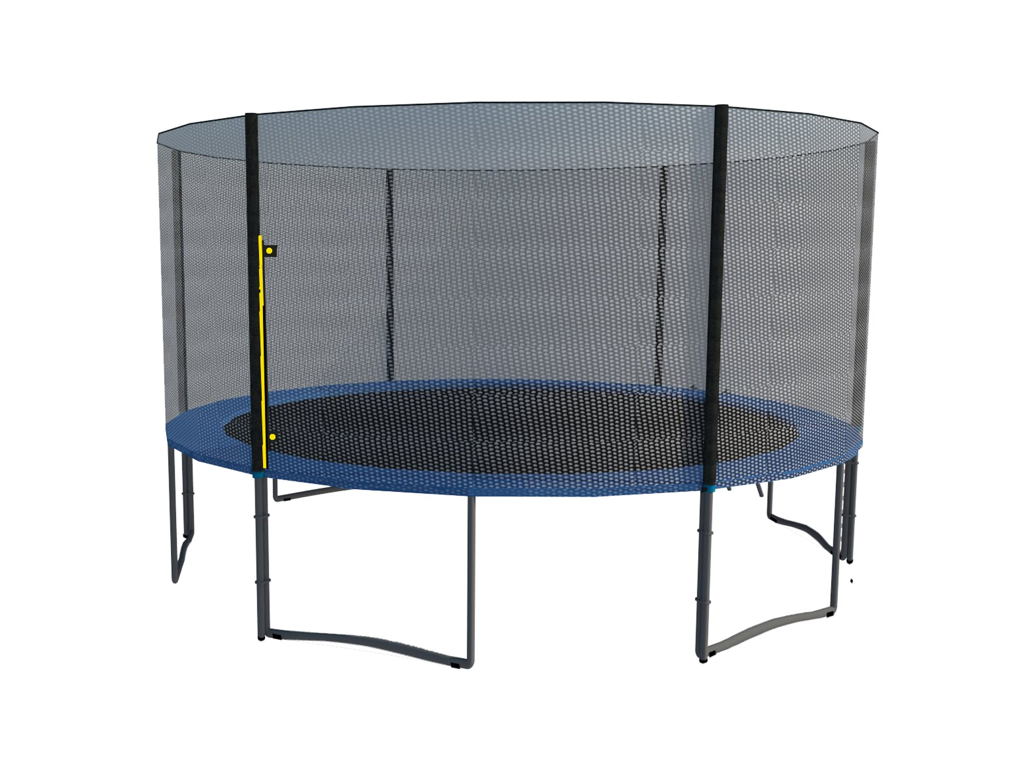 ExacMe 12 FT 6W Legs Trampoline w/ safety pad & Enclosure Net & ladder COMBO T12 0