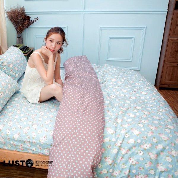 LUST生活寢具【天藍田園】100%純棉、精梳棉床包 / 枕套 / 被套、台灣製 2
