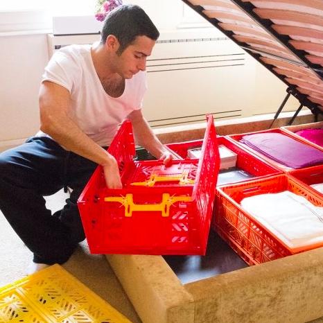 (中大)Ay Kasa土耳其多功能折疊 組合 多色專利摺疊收納箱(中大),收納 整理 旅遊 玩具箱 水果籃 工具箱 物流箱 置物箱 鞋櫃 衣物籃【Limiteria】