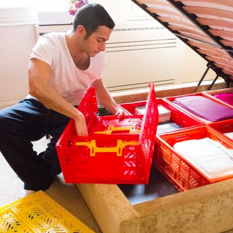 【Limiteria】(中大)Ay Kasa土耳其多功能折疊 組合 多色專利摺疊收納箱(中大),收納 整理 旅遊 玩具箱 水果籃 工具箱 物流箱 置物箱 鞋櫃 衣物籃