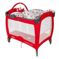 Graco舒適嬰幼兒電動安撫遊戲床Contour Electra (遊樂園-紅) 4400元+貝恩濕紙巾80抽X5包【來電另有優惠】
