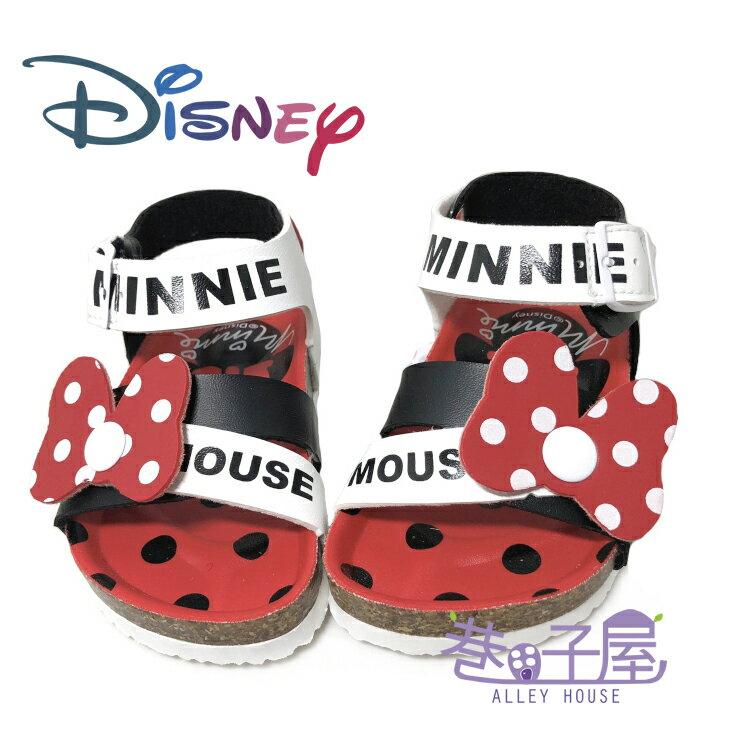 迪士尼DISNEY 童款米妮蝶結伯肯涼鞋 [117255] 白紅 MIT台灣製造【巷子屋】