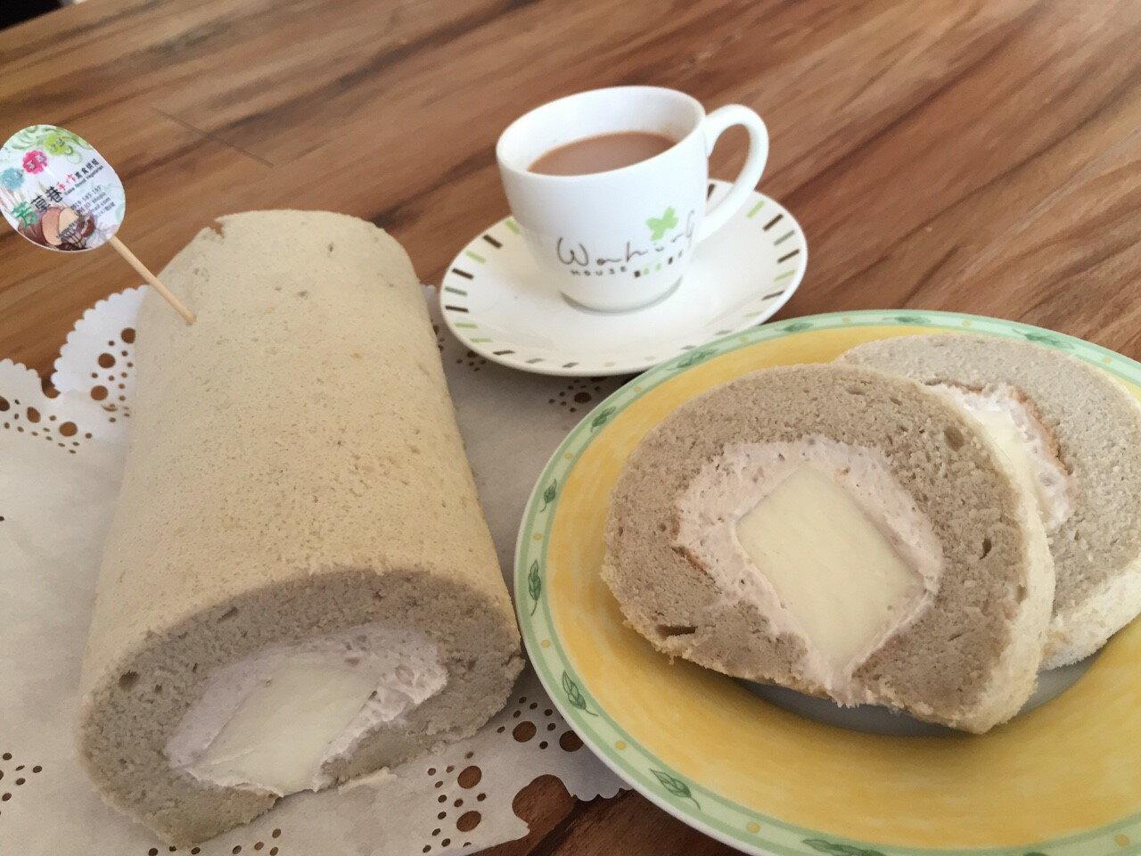 堅持新鮮現作手工芋泥奶凍捲450g - 芳草巷手作素食工坊