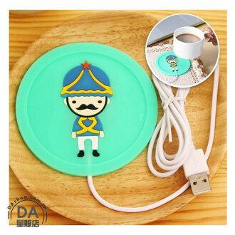 《居家用品任選四件9折》卡通 創意 USB 矽膠 保溫 餐墊 暖杯器 保溫碟 保溫杯墊 綠色(80-2689)