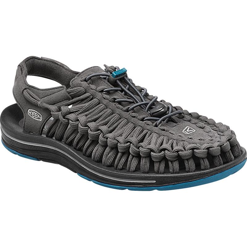~登山樂~美國KEEN UNEEK FLAT 男款編織涼鞋 深灰  藍 ^#1014974