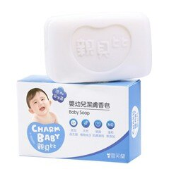 雪芙蘭     CHARM BABY親貝比嬰幼兒潔膚皂75g