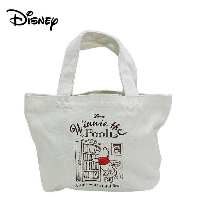 【日本正版】小熊維尼 帆布 手提袋 便當袋 午餐袋 Winnie 維尼 迪士尼 Disney - 220537