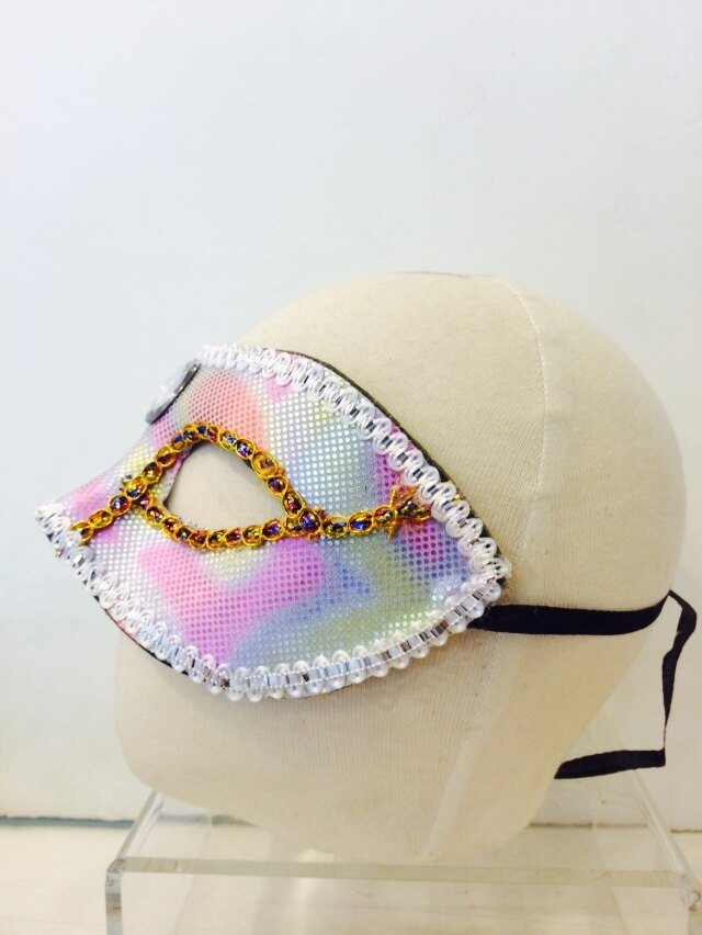 寶石亮片面具-白,萬聖節服裝/派對用品/舞會道具/cosplay服裝/角色扮演,X射線【W060021A】