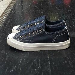Converse Jack Purcell 開口笑 荔枝皮 皮革 藍色 深藍色 奶油底 編織 軟木塞 鞋墊 147852C