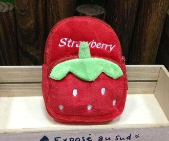 =優生活=草莓迷你小後背包造型錢包 零錢包 吊飾=優生活=草莓迷你小後背包造型錢包 零錢包 吊飾
