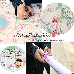 =優生活=韓國創意夢想地圖DIY塗鴉 大地圖 夢想版 計劃圖