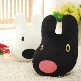 =優生活=日本Gaspard et Lisa 麗莎與賈斯伯 黑白狗頭型抱枕 娃娃 靠墊 枕頭