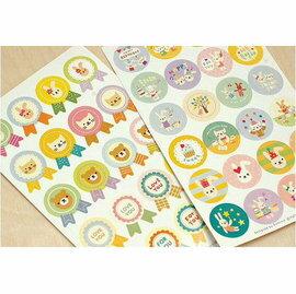 =優生活=韓國文具 TOTO小兔子 貓咪 熊熊裝飾貼紙 禮品貼 封口貼 兩入裝