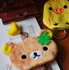 =優生活=Rilakkuma拉拉熊 輕鬆熊 黃色小雞 抽繩鑰匙扣 鑰匙包 鑰匙套