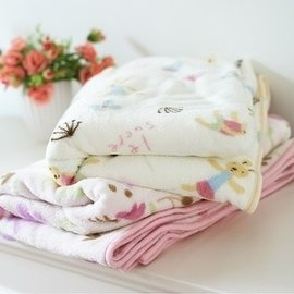=優 =Le sucre砂糖兔 珊瑚絨絨兔子小花朵毛毯 空調毯 兒童毯 小件