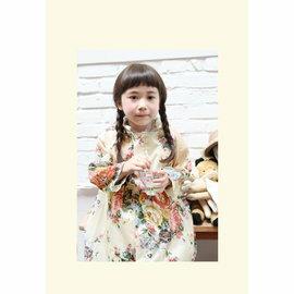 =優生活=韓國可愛大花小孩雨衣兒童雨衣 時尚女童雨衣