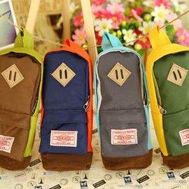 =優生活=韓國文具 牛津布書包筆袋 創意筆袋 後背包筆袋