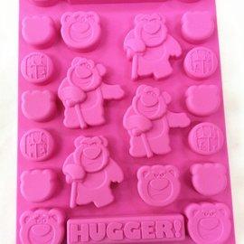 =優生活=迪士尼草莓熊 抱哥玩具總動員食品級矽膠 巧克力蛋糕模 手工皂 果凍布丁模 卡通冰格 製冰模具 DIY模具 可愛冰格 大